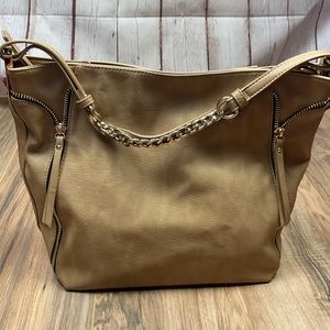 Madison West Chain strap tote. Tan